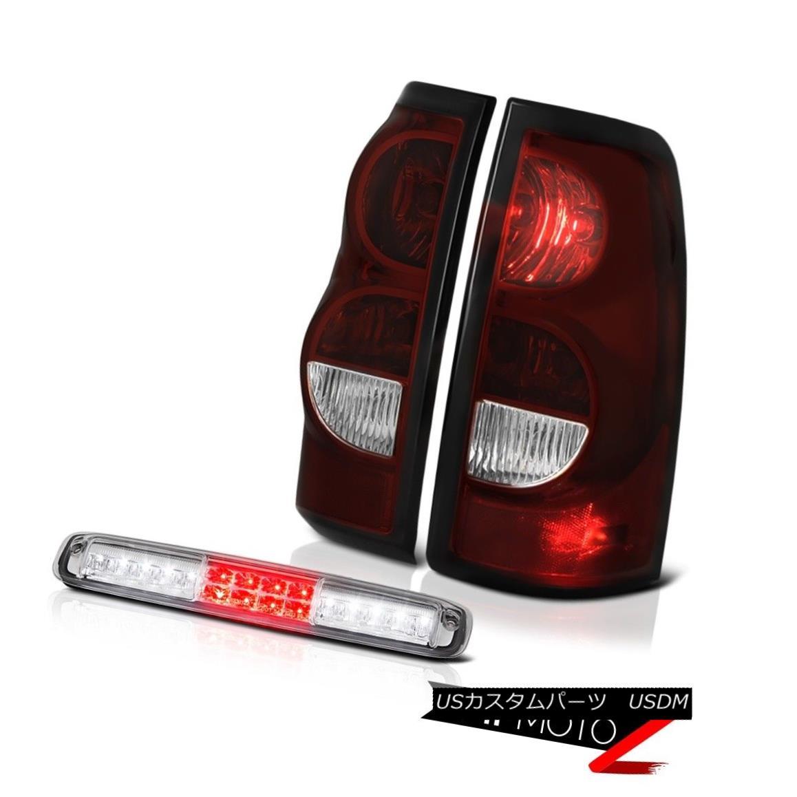 テールライト 2003-2006 Silverado 3500Hd Euro Clear Roof Brake Lamp Smoked Red Taillights LED 2003-2006シルバラード3500Hdユーロクリア屋根ブレーキランプスモークレッドティアライトLED