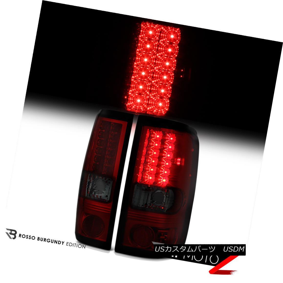 テールライト [WINE RED] 2004-2008 Ford F150 Rear LED Smoke Tail Lights Lamps PAIR LEFT+RIGHT [ワインレッド] 2004-2008フォードF150リアLEDスモークテールライトランプPAIR LEFT + RIGHT