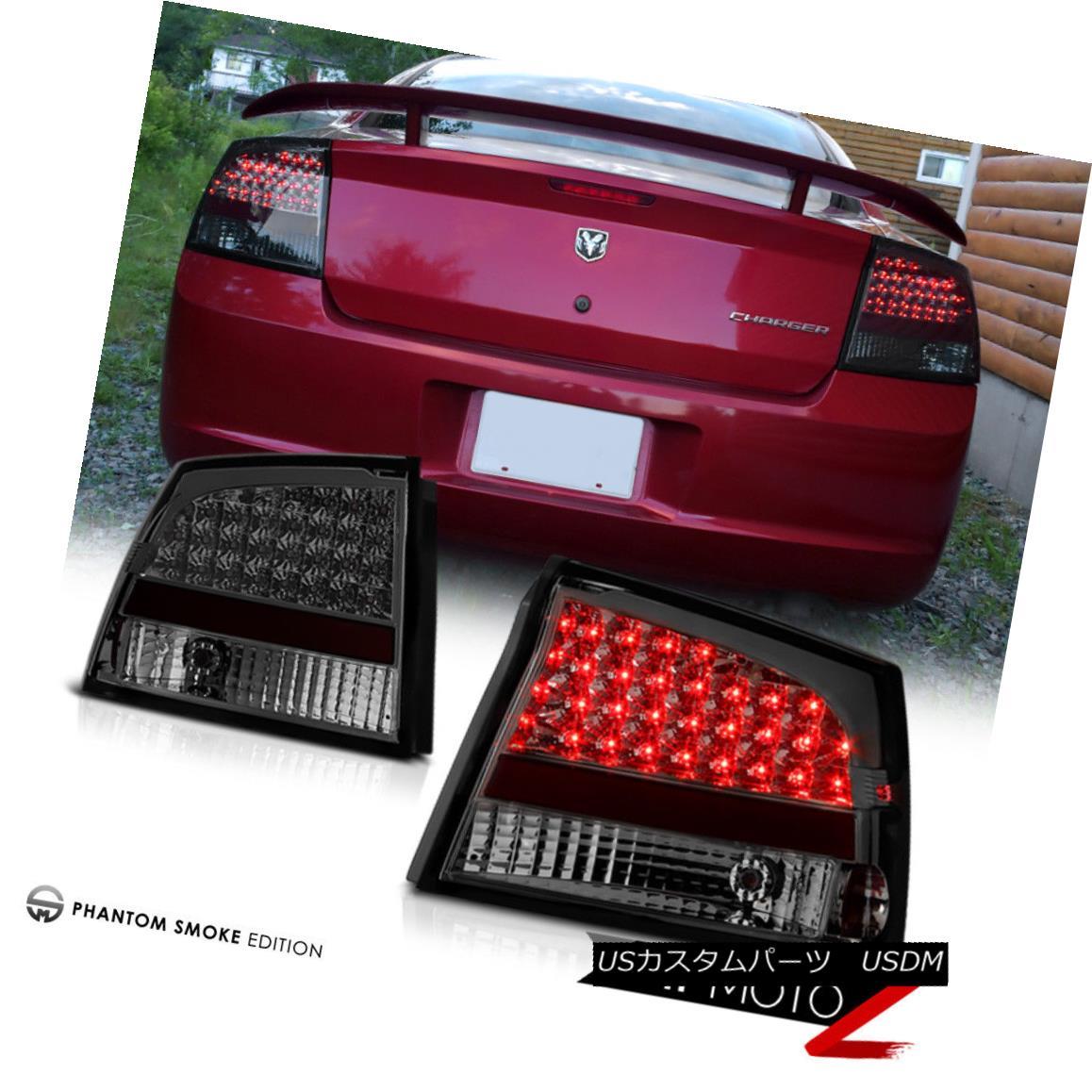 テールライト 2009-10 Dodge Charger SXT/RT/SE/SRT8 Smoke LED Tail Light Brake Lamps Left+Right 2009-10ダッジチャージャーSXT / RT / SE / SRT8スモークLEDテールライトブレーキランプ左+右