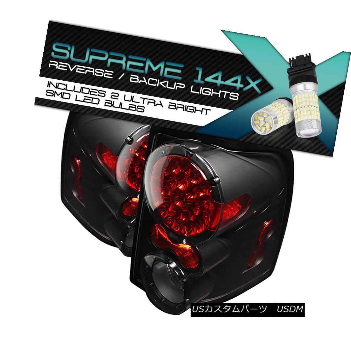 テールライト !360 Degree SMD Backup! Black LED Taillights Brake 02-05 Ford Explorer Sport/XLS 360度SMDバックアップ! ブラックLEDテールライトブレーキ02-05 Ford Explorer Sport / XLS