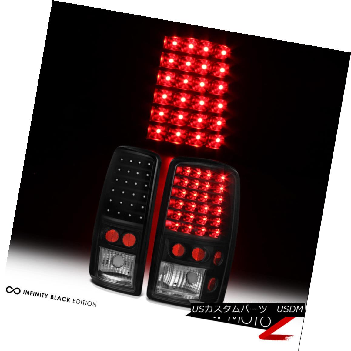 テールライト 00-06 Tahoe Yukon Suburban Yukon XL 1500 2500 Black LED Brake Tail Lights Lamps 00-06 Tahoe Yukon郊外Yukon XL 1500 2500ブラックLEDブレーキテールライトランプ