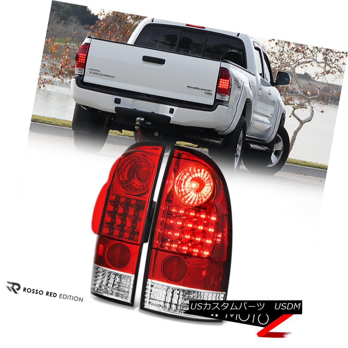 テールライト JDM Factory Style RED+CRYSTAL CLEAR Brake Signal Tail Light 05-15 Toyota Tacoma JDMファクトリースタイルRED + CRYSTAL CLEARブレーキ信号テールライト05-15 Toyota Tacoma