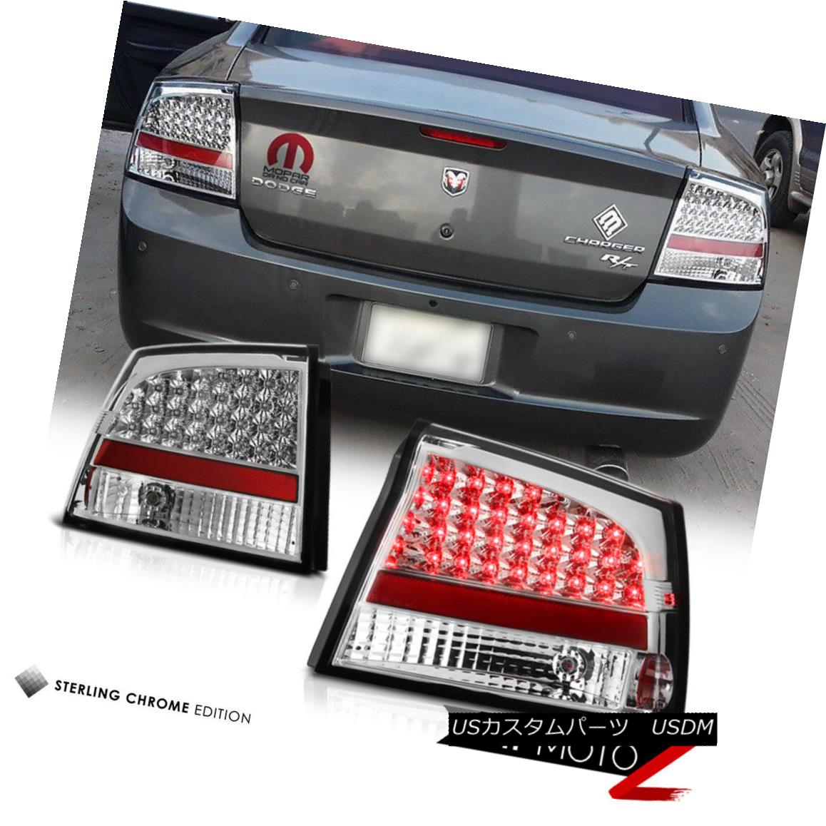 テールライト 2006-2008 DODGE CHARGER Euro Chrome LED SMD Rear Tail Light Brake Lamps Set 2006-2008 DODGE CHARGERユーロクロームLED SMDリアテールライトブレーキランプセット