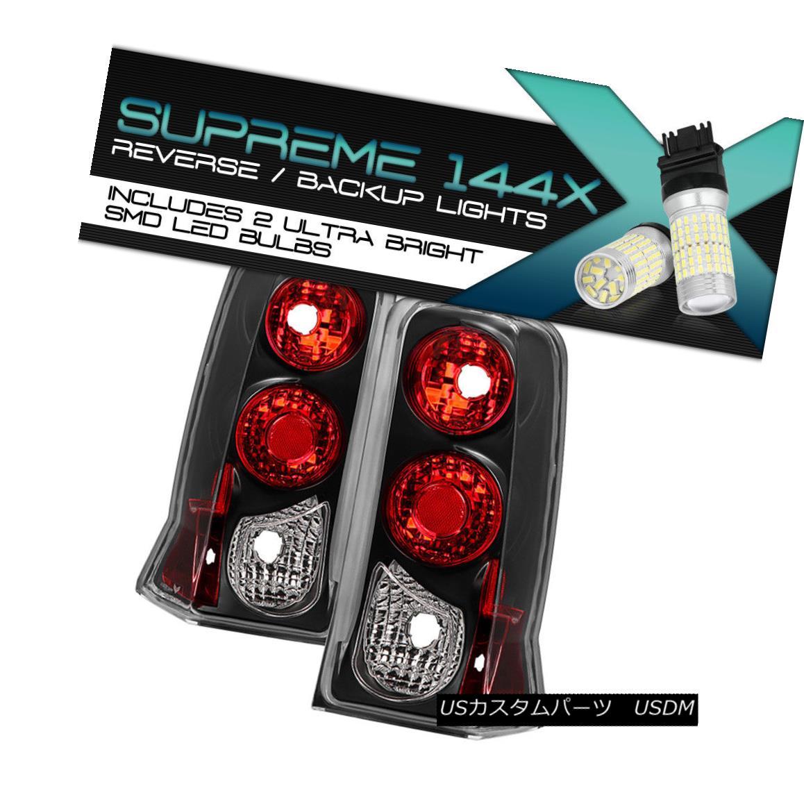 テールライト Full SMD Reverse 02-06 Cadillac Escalade ESV Black Housing Taillamps Replacement Full SMD Reverse 02-06キャデラック・エスカレードESVブラックハウジング・タイヤンプ交換