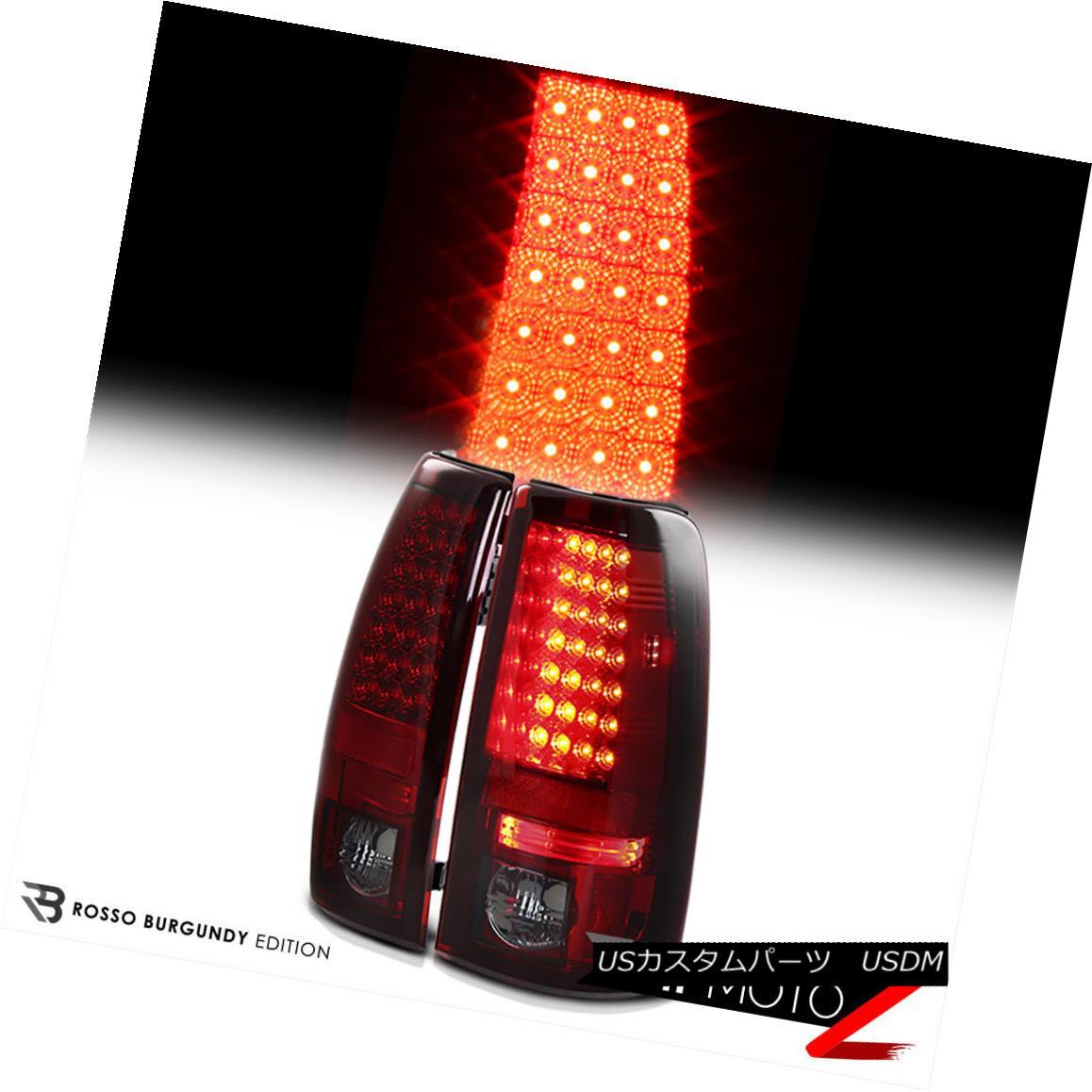 テールライト 1999-2002 Chevy Silverado | 99-06 GMC Sierra SMOKED RED LED Brake Tail Lights 1999-2002 Chevy Silverado | 99-06 GMC Sierra SMOKED RED LEDブレーキテールライト