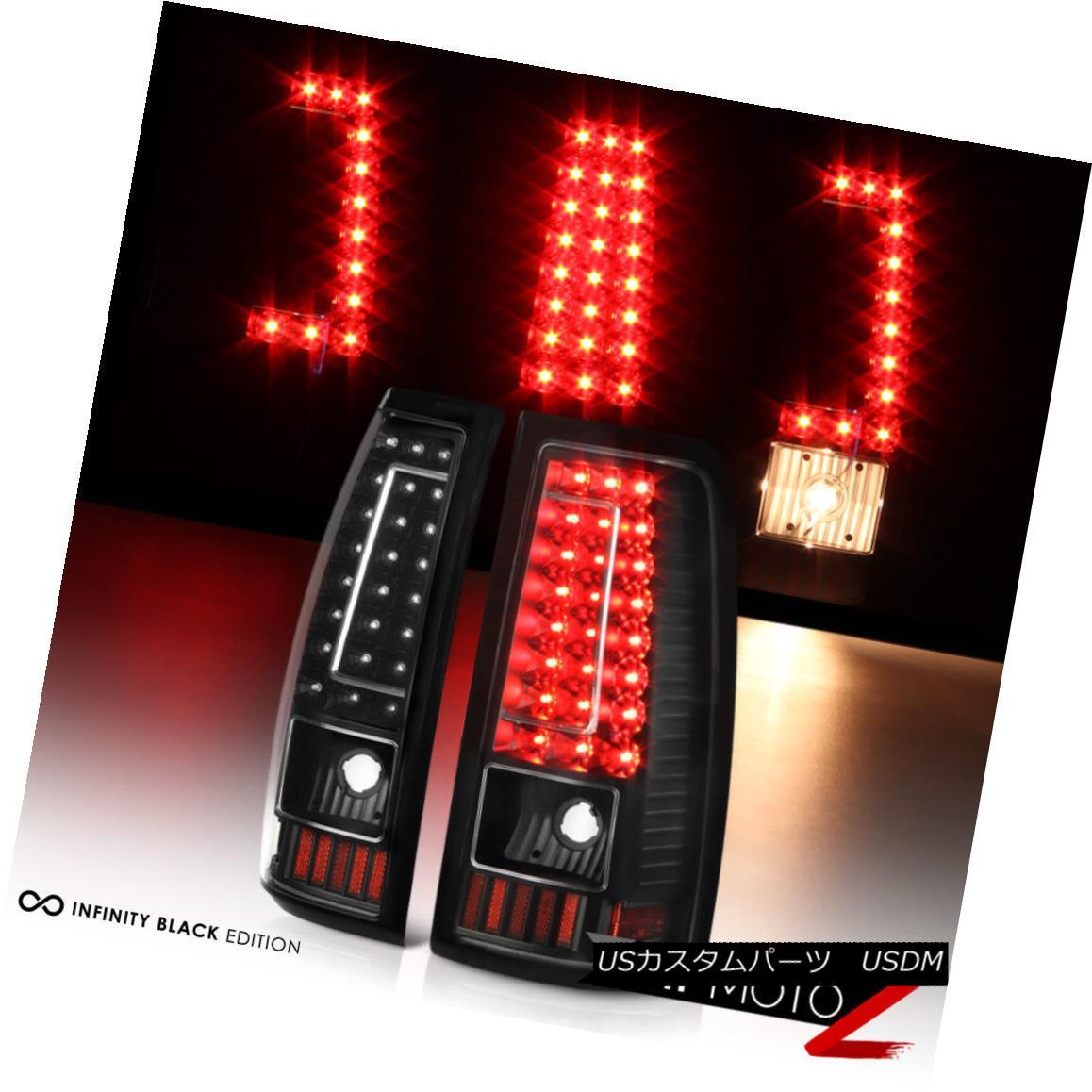 テールライト 1999-2002 Chevrolet Silverado Black LED Brake Tail Lights Signal Lamps Assembly 1999-2002シボレーシルバラードブラックLEDブレーキテールライトシグナルランプアセンブリ