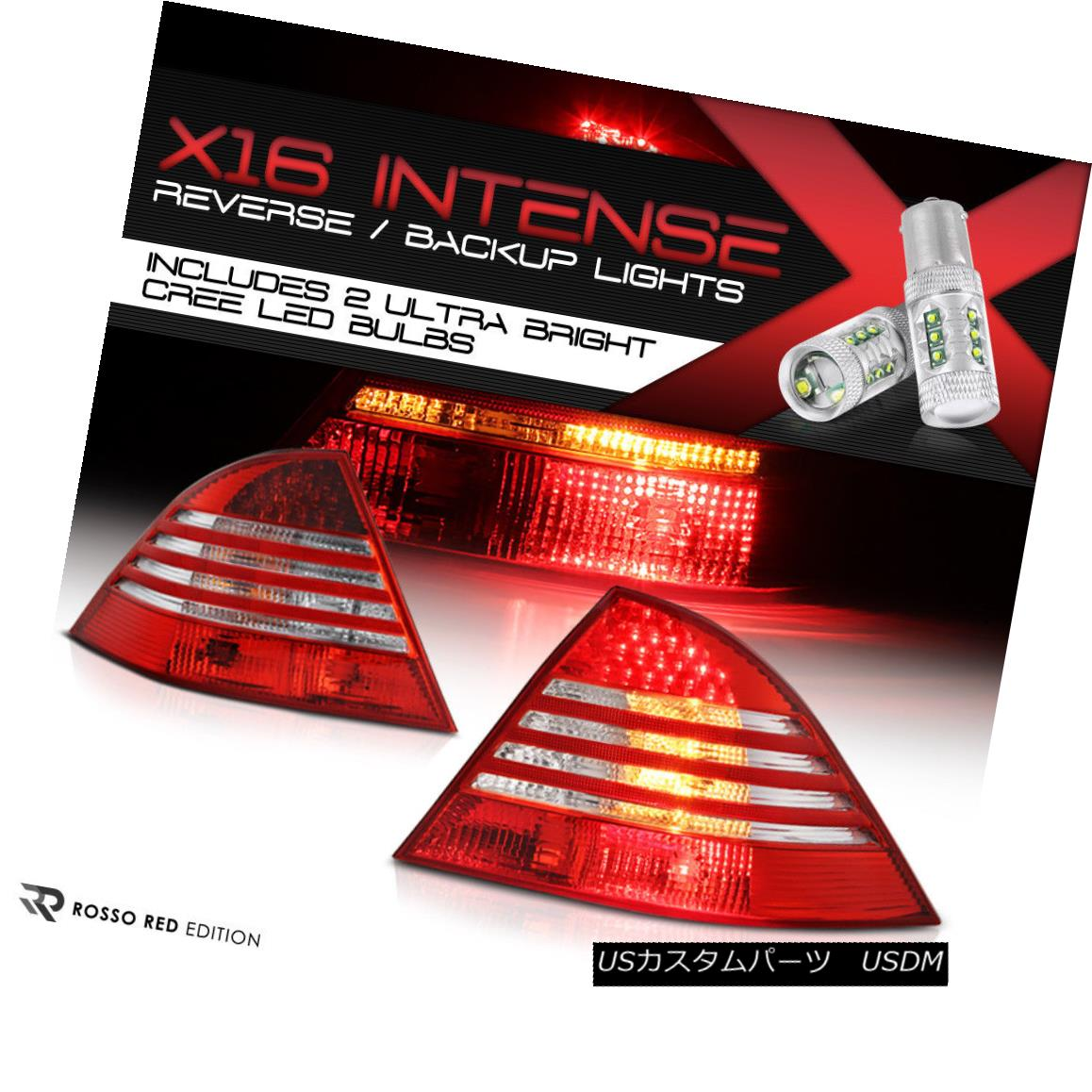 テールライト High-Power CREE Backup 00-05 Mercedes Benz W220 S-Class LED Tail Lights Red PAIR ハイパワークレイバックアップ00-05メルセデスベンツW220 SクラスLEDテールライトレッドペア