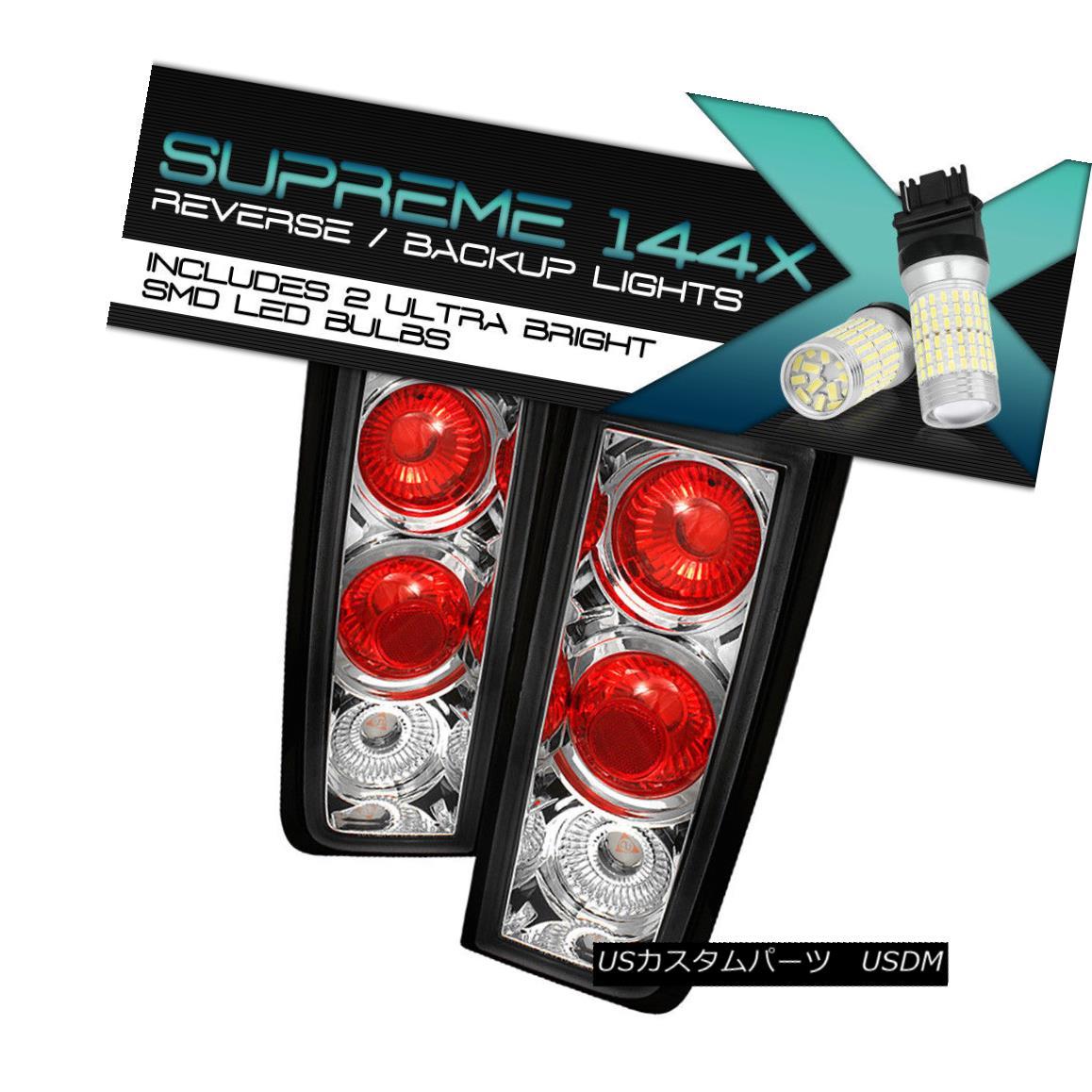 テールライト {FULL SMD REVERSE} Hummer H2 02-04 Sport 4WD Chrome Left+Right Tail Lamps Brake {FULL SMD REVERSE} Hummer H2 02-04スポーツ4WDクローム左+右テールランプブレーキ