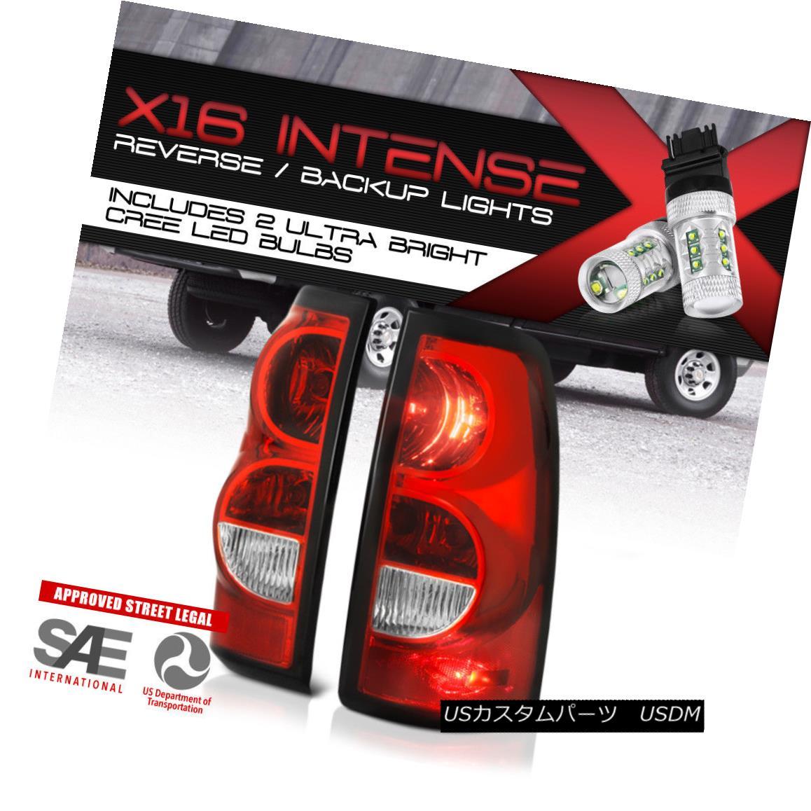 テールライト !High-Power CREE LED Reverse! 03-07 Silverado 1500 2500 3500 Red Tail Lamps L+R ハイパワークリーLEDリバース! 03-07 Silverado 1500 2500 3500レッドテールランプL + R