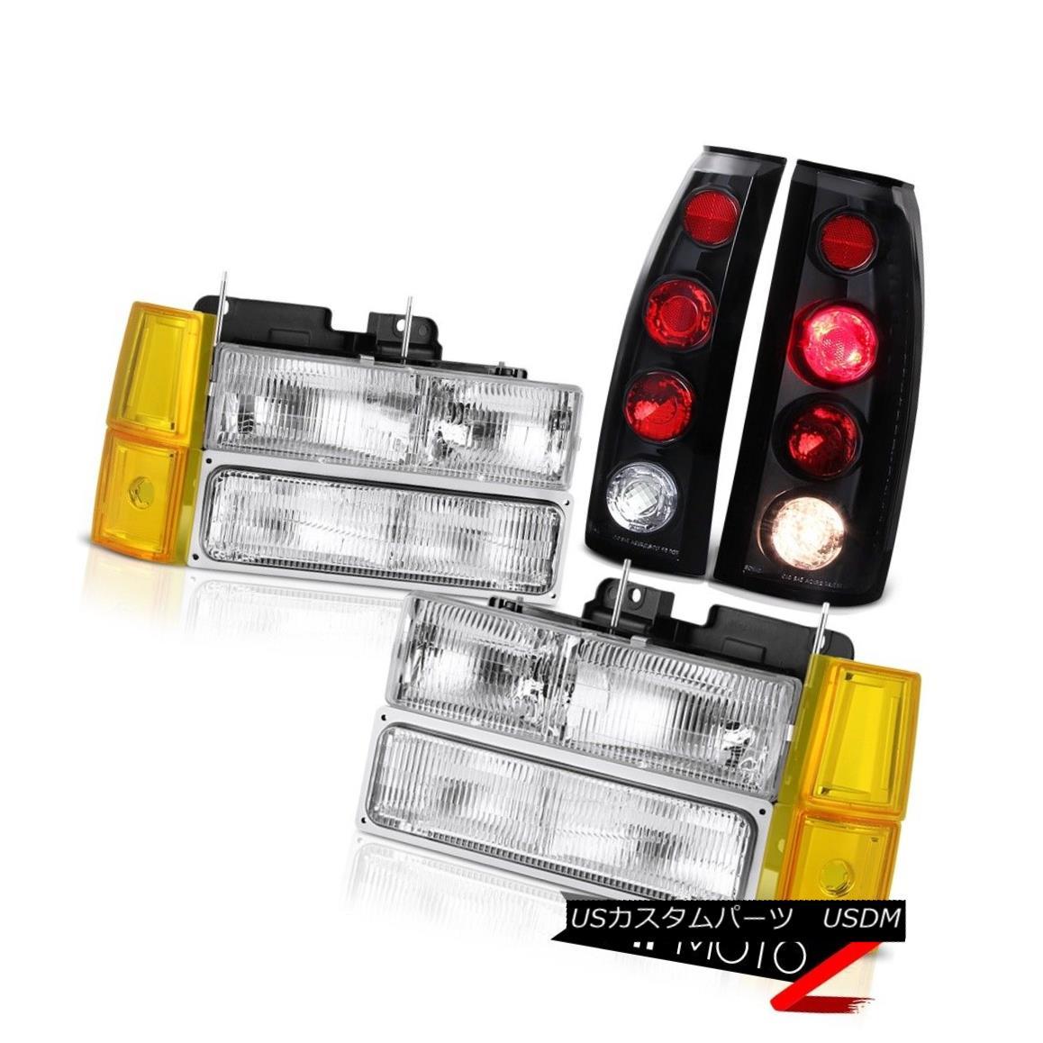 テールライト 94 95 96 97 98 Sierra SL Euro Chrome Headlights Bumper Taillights Factory Style 94 95 96 97 98 Sierra SL Euroクロームヘッドライトバンパーテールライト工場のスタイル