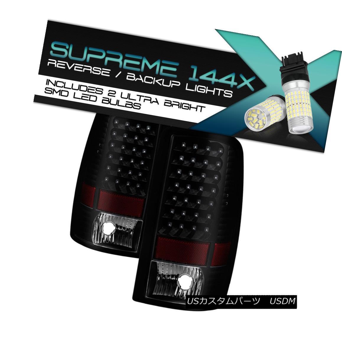 テールライト {Full SMD Reverse} LED Tail Lights 2000-2006 GMC Yukon XL Chevy Tahoe Suburban {フルSMDリバース} LEDテールライト2000-2006 GMCユーコンXLシェビータホ郊外
