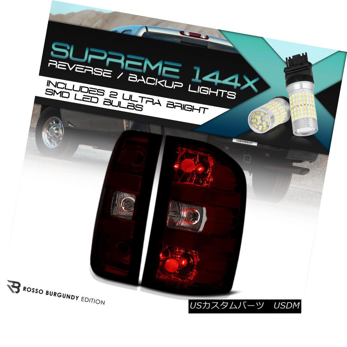 テールライト [360 Degree SMD Backup] [SINISTER RED] Dark Smoke Tail Light 2007-2013 Silverado [360度SMDバックアップ] [SINISTER RED]ダークスモークテールライト2007-2013シルバラード