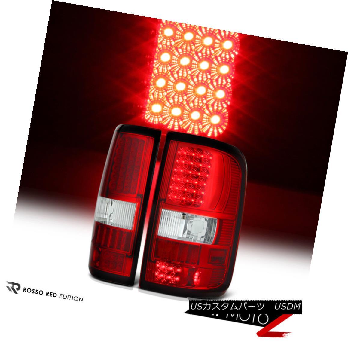テールライト Factory Style {RED/CLEAR} L+R {Top Quality} LED Tail Light Brake Lamp 04-08 F150 ファクトリースタイル{赤/クリア} L + R {トップ品質} LEDテールライトブレーキランプ04-08 F150