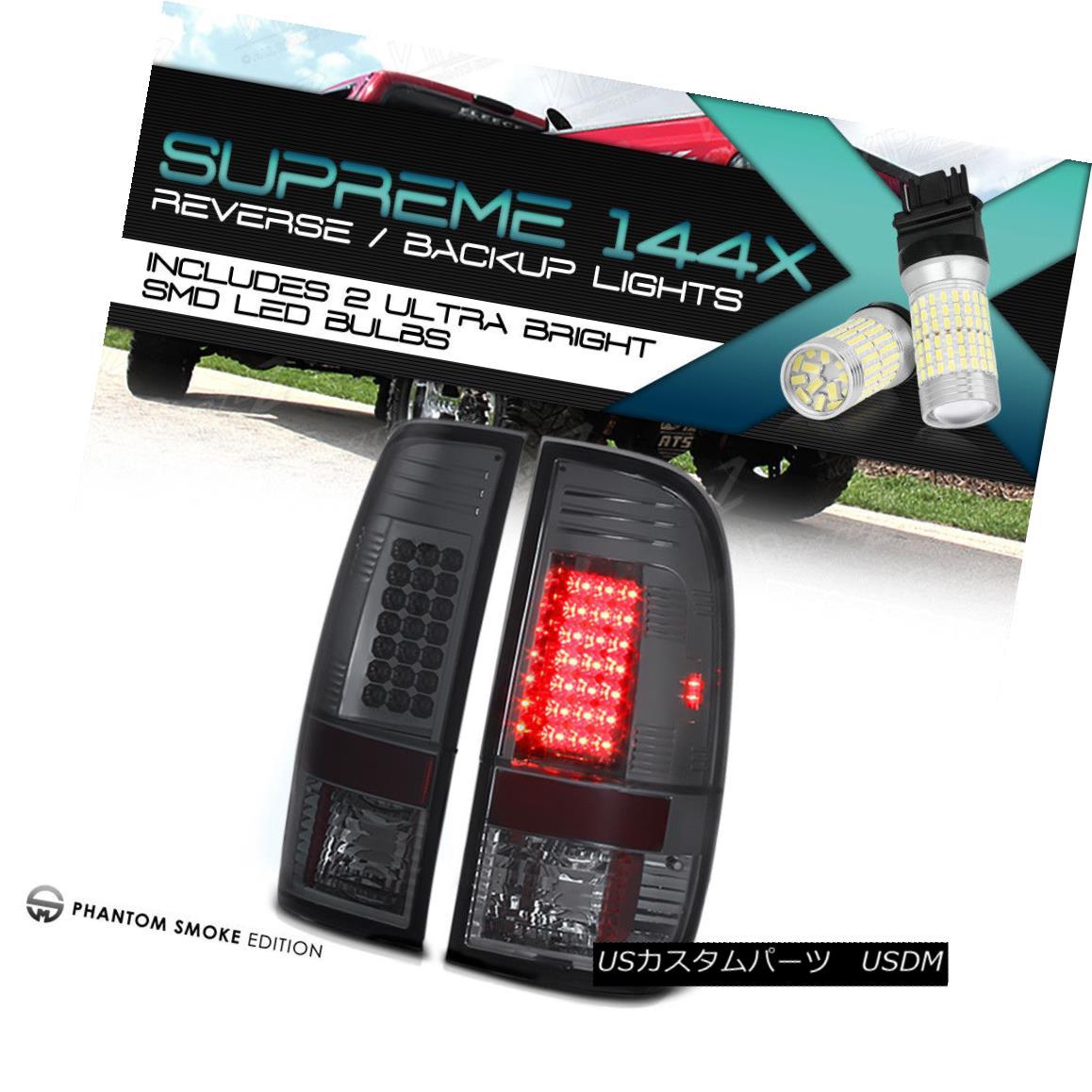 テールライト 360 DEGREE SMD BACKUP 97-03 F150 | 99-06 F250 F350 Smoked LED Tail Lights PAIR 360度SMDバックアップ97-03 F150 | 99-06 F250 F350スモークLEDテールライトペア