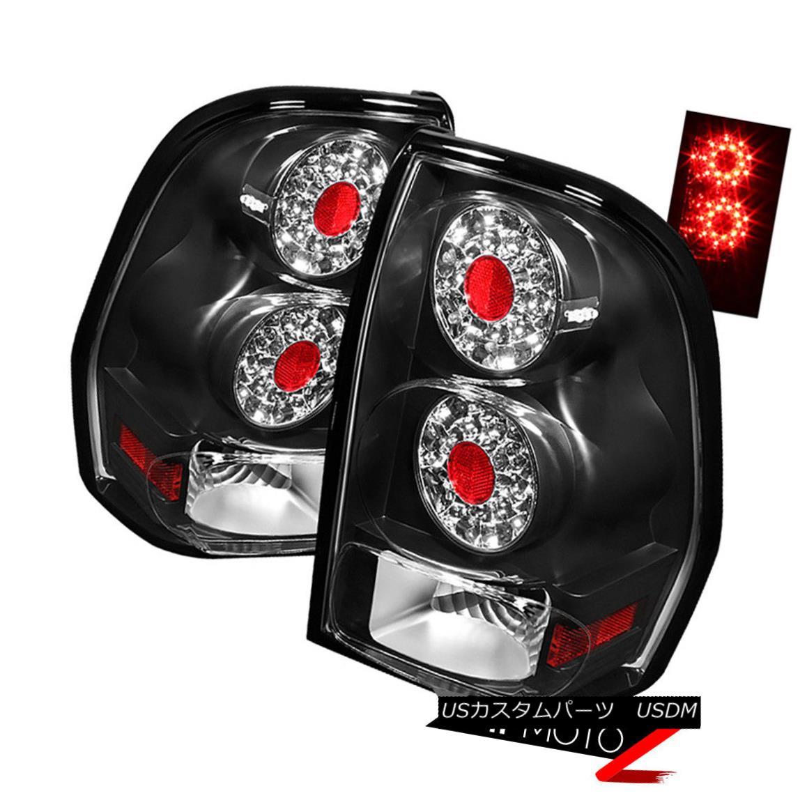 テールライト Chevy TrailBlazer 02-09 Black LED Tail Light Signal Brake Lamp Pair LH+RH SET Chevy TrailBlazer 02-09ブラックLEDテールライト信号ブレーキランプペアLH + RH SET