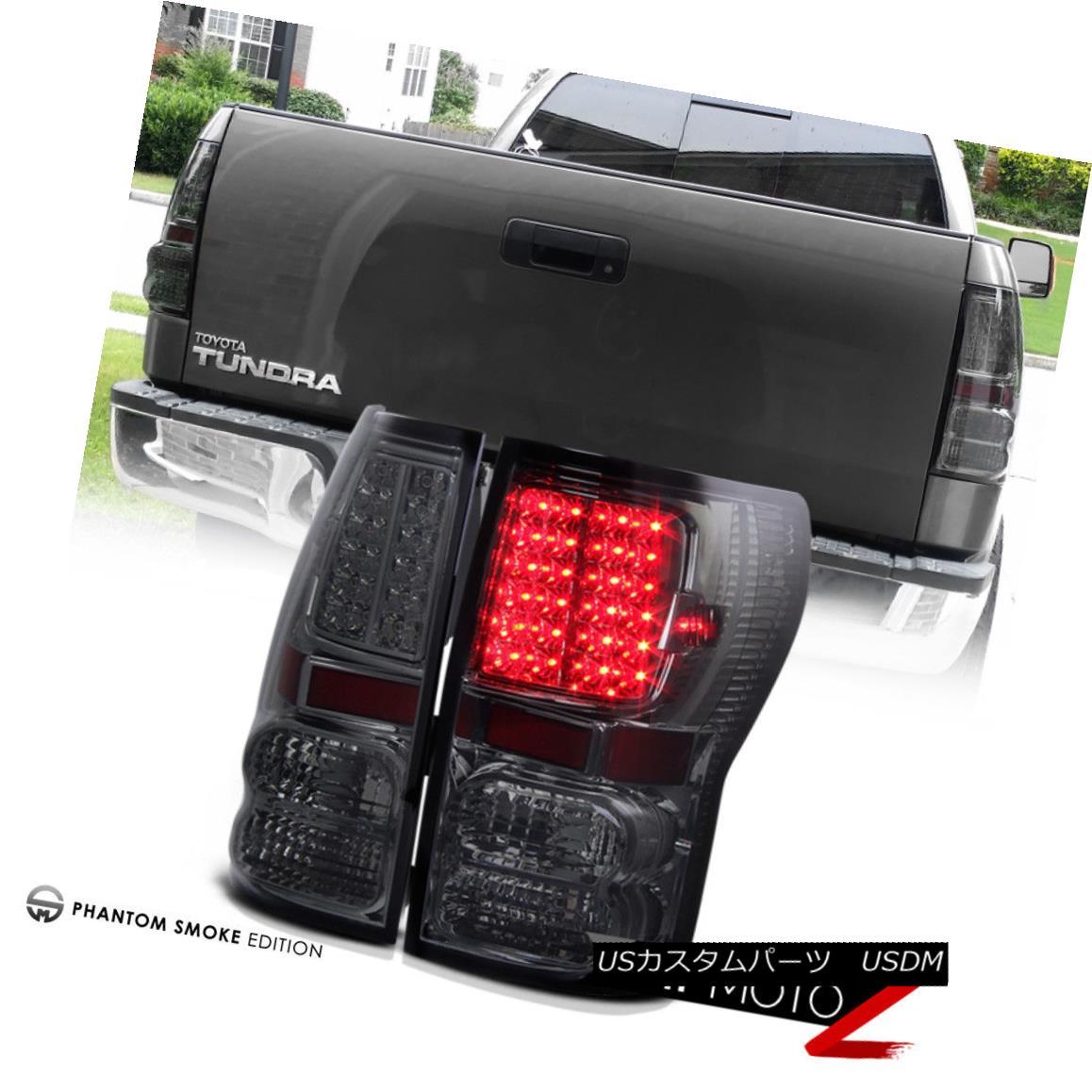 テールライト [SMOKE] 2007-2013 Toyota Tundra LED SMD Rear Brake Lamp Tail Lights Assembly SET [SMOKE] 2007-2013 Toyota Tundra LED SMDリアブレーキランプテールライトアセンブリセット