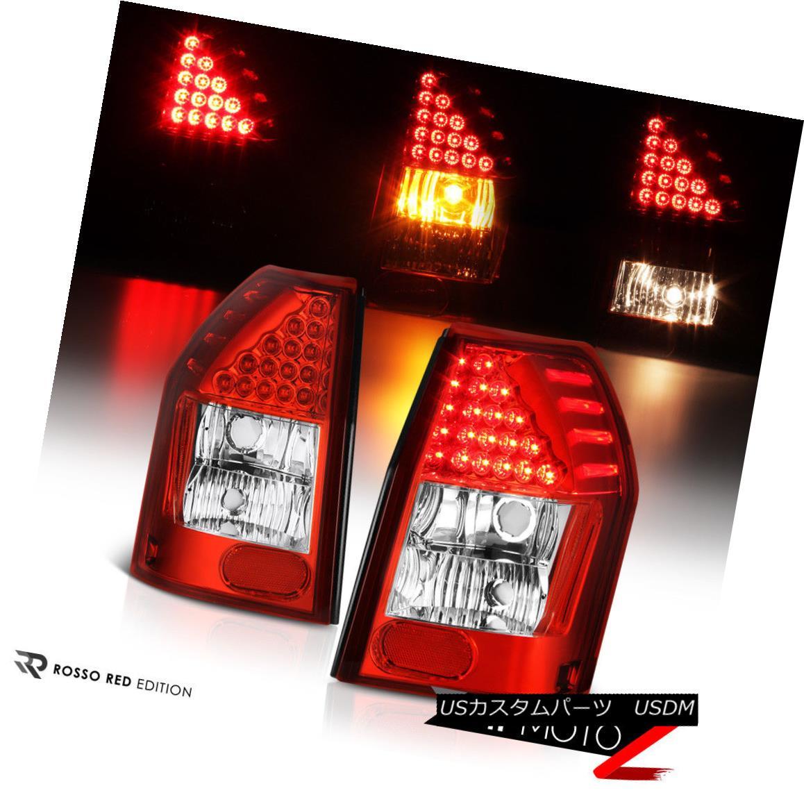 テールライト [Factory RED LED] 2005-2008 Dodge Magnum Tail Lights Left+Right Replacement SET [工場赤色LED] 2005-2008ダッジマグナムテールライト左+右置き換えセット