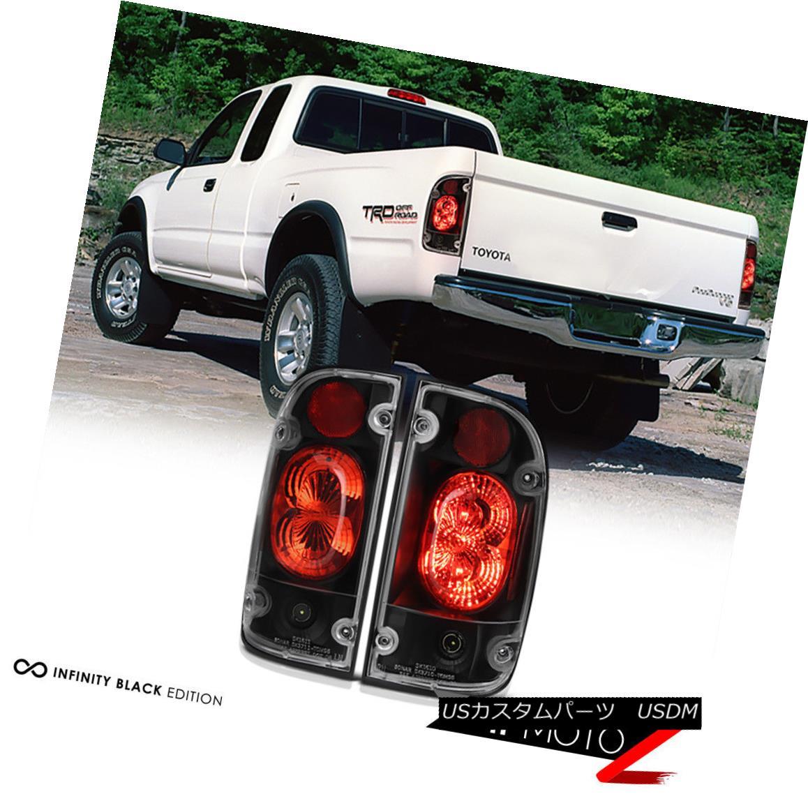 テールライト 01-04 Toyota Tacoma 2/4WD TRD JDM Pickup Black Tail Light Brake Signal Lamp L+R 01-04トヨタタコマ2 / 4WD TRD JDMピックアップブラックテールライトブレーキ信号ランプL + R
