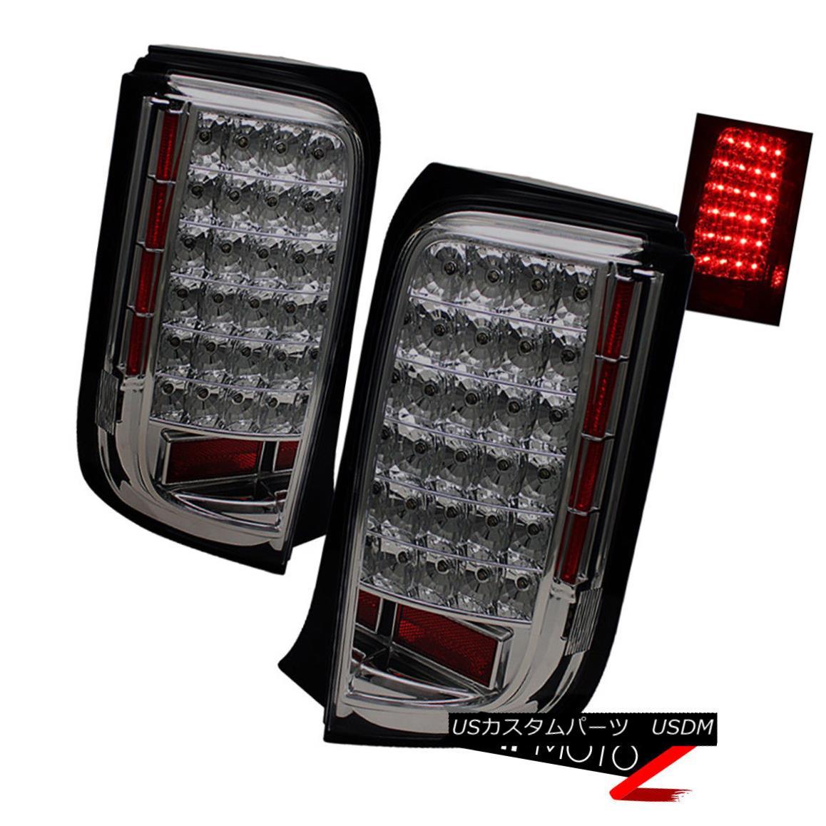 テールライト TiTaniuM Smoke LED Rear Brake Signal Tail Lights Assembly LEFT+RIGHT Scion xB bB TiTaniuMスモークLEDリアブレーキ信号テールライトアセンブリLEFT + RIGHT Scion xB bB
