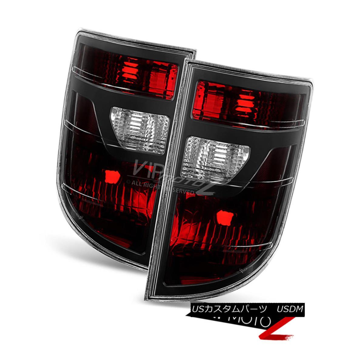 テールライト 2006 2007 2008 Honda Ridgeline [Smoked Red] Brake Taillights Tail Lamps LH+RH 2006 2007 2008 Honda Ridgeline [スモーク・レッド]ブレーキ・テールランプテール・ランプLH + RH