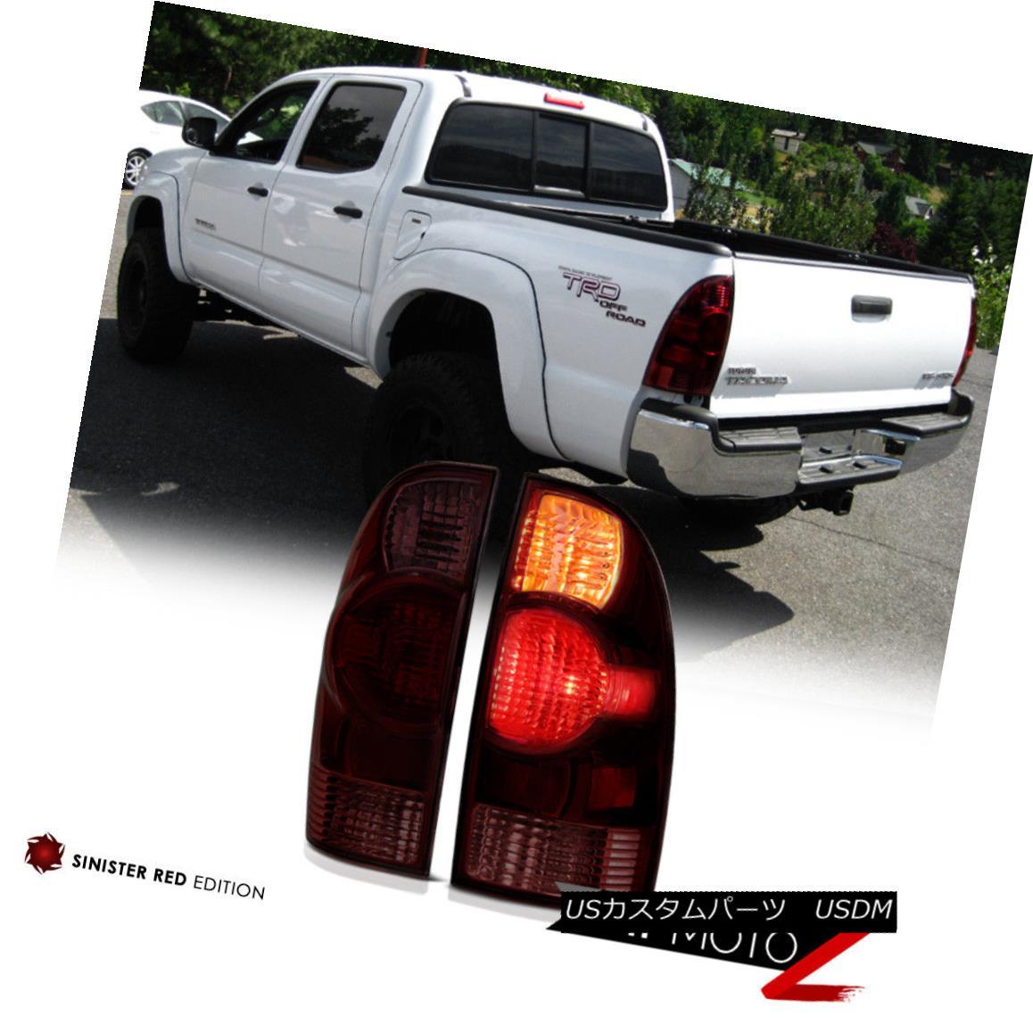 テールライト PAIR 2005-2008 Toyota Tacoma Factory Style Red Smoke Replacement Tail Lights L+R PAIR 2005-2008トヨタタコマ工場スタイルレッド煙代替テールライトL + R
