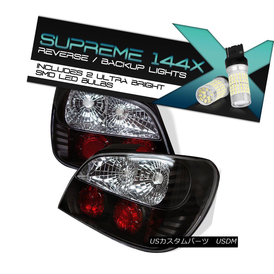 テールライト {360 Degree SMD Backup} JDM Black Tail Light For 02-03 Subaru Impreza 4DR 2.5RS {360度SMDバックアップ} JDMブラックテールライト02-03スバルインプレッサ4DR 2.5RS