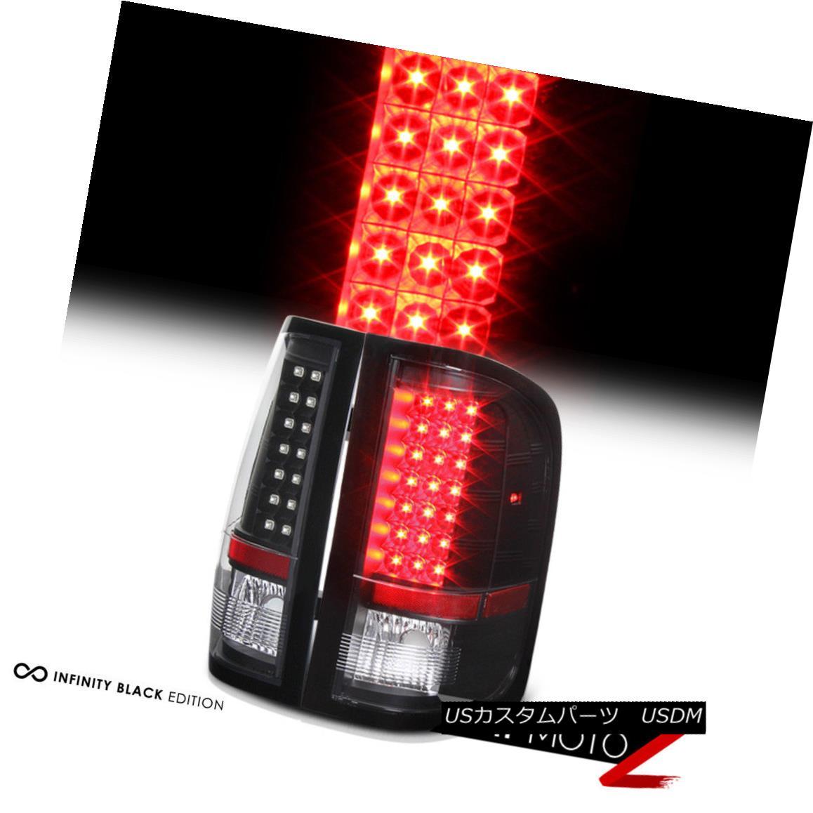 テールライト 2007-2013 Chevy Silverado V8 1500 2500HD 3500HD Black LED Brake Tail Light Lamp 2007-2013シボレーシルバラードV8 1500 2500HD 3500HDブラックLEDブレーキテールライトランプ