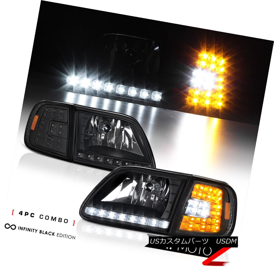 テールライト LED Bulbs FORD 1997-2003 F150 Black 4PC Corner Head Lights Corner Lamps w/ BRIGHT LED SMD Bulbs フォード1997-2003 F150ブラック4PCコーナーヘッドライトランプ(BRIGHT LED SMD球根付), マタニティ服と授乳服のSweetMommy:f707b133 --- officewill.xsrv.jp
