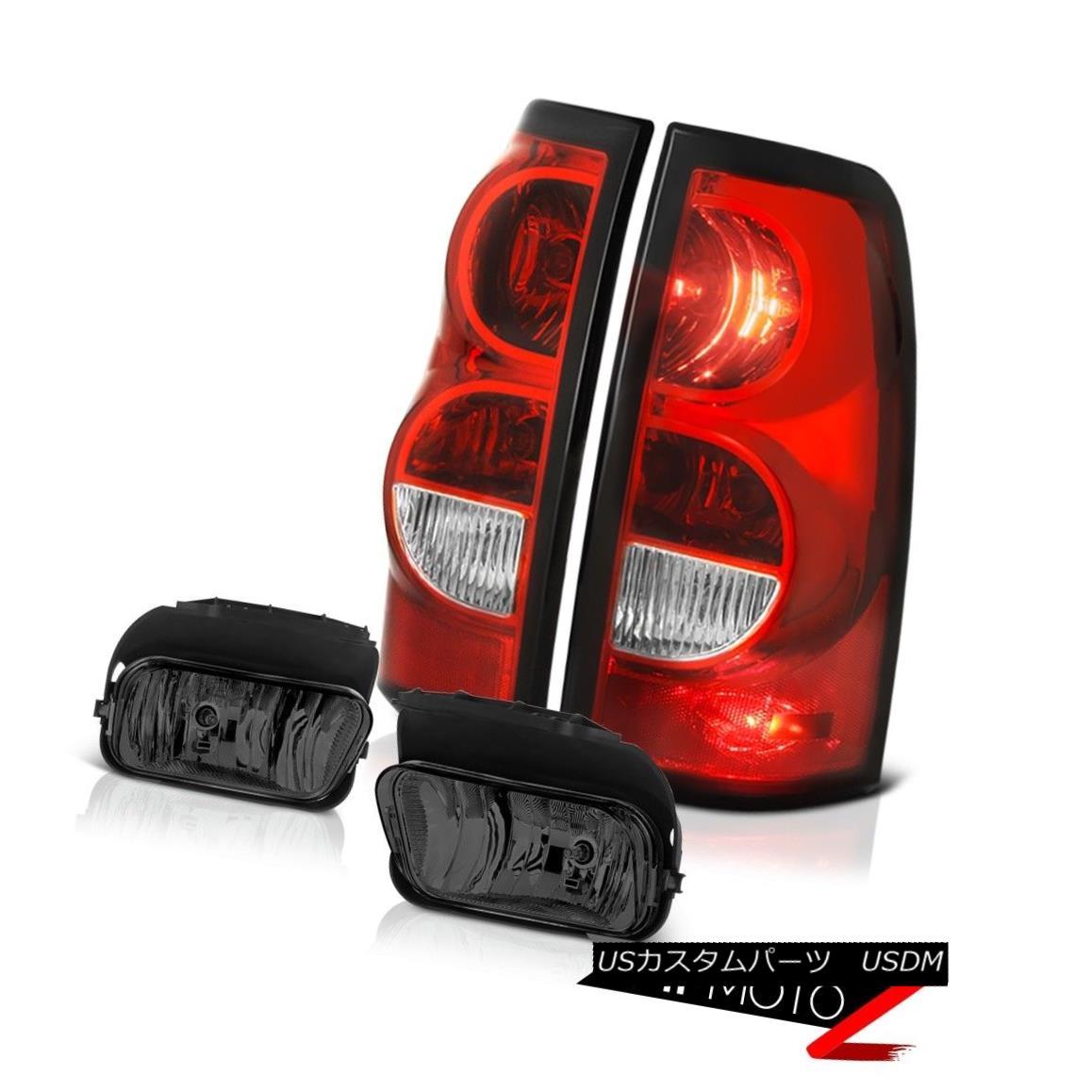 テールライト 03-06 Chevy Silverado Foglamps Red Clear Taillights Crystal Lens Factory Style 03-06 Chevy Silverado Foglampsレッドクリアテールライトクリスタルレンズファクトリースタイル