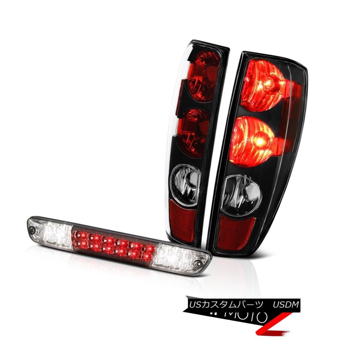 テールライト 04-08 09-12 Chevy Colorado Infinity Black Tail Lamps Titanium Smoke Third Brake 04-08 09-12 Chevy Coloradoインフィニティブラックテールランプチタンスモークサードブレーキ