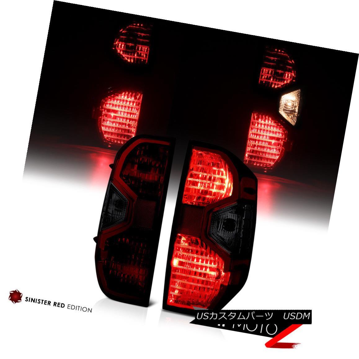 テールライト 2014-2018 Toyota Tundra SR5 1794 JDM SMOKE Dark Red Tail Lights Replacement Pair 2014-2018トヨタトンドラSR5 1794 JDM SMOKEダークレッドテールライト交換ペア