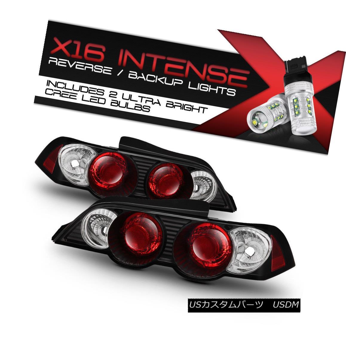 テールライト [Cree LED Reverse] 02-04 New Acura RSX AT MT Coupe Black Tail Lights Brake LH RH [クリーLEDリバース] 02-04新アキュラRSX AT MTクーペブラックテールライトブレーキLH RH