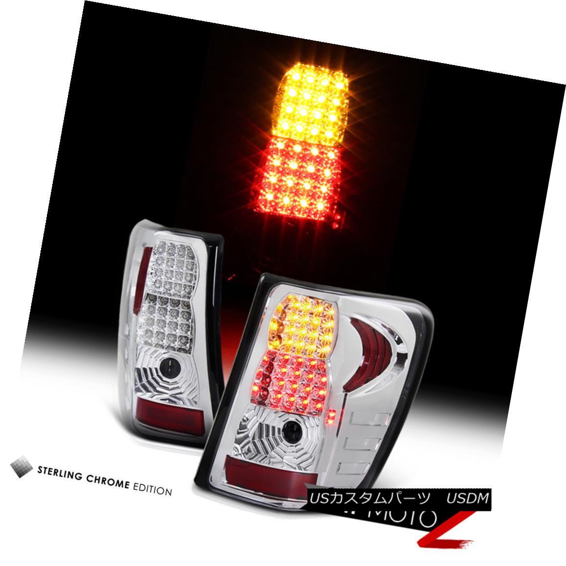 テールライト 99-04 Chrome Jeep Grand Cherokee 99-04 Chrome Left+Right LED Clear Tail Light Signal Lamp Left+Right Set 99-04ジープグランドチェロキークロムLEDクリアテールライト信号ランプ左+右セット, sorfege:bfe07ed6 --- officewill.xsrv.jp