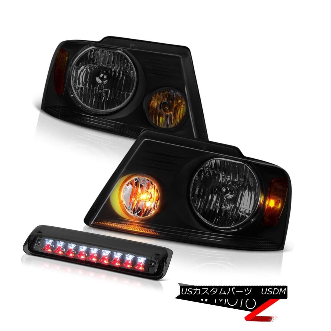 テールライト 2004-2008 Ford F150 STX Darkest Smoke Headlamps Phantom Roof Brake Lamp Assembly 2004-2008 Ford F150 STX Darkest Smoke Headlampsファントムルーフブレーキランプアセンブリ