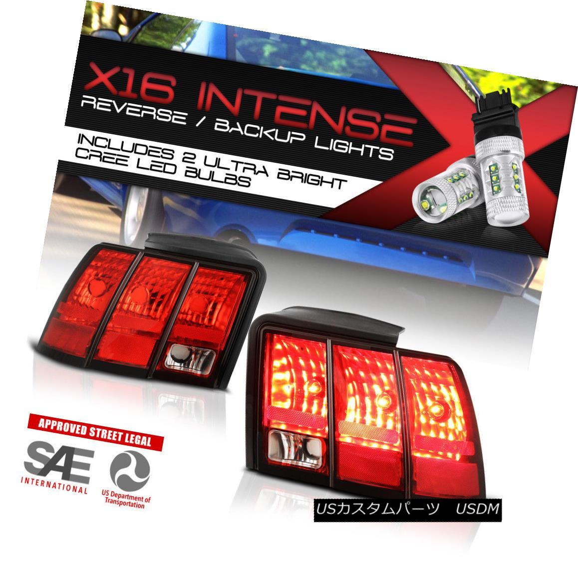 テールライト!CREE LED Ford REVERSE! Tail Lights Lamps REVERSE! Replacment Pair Replacment For 1999-2004 Ford Mustang!クリーLED逆転! 1999-2004フォードマスタング用テールライトランプペアの交換, 【絶品】:ed230df6 --- officewill.xsrv.jp