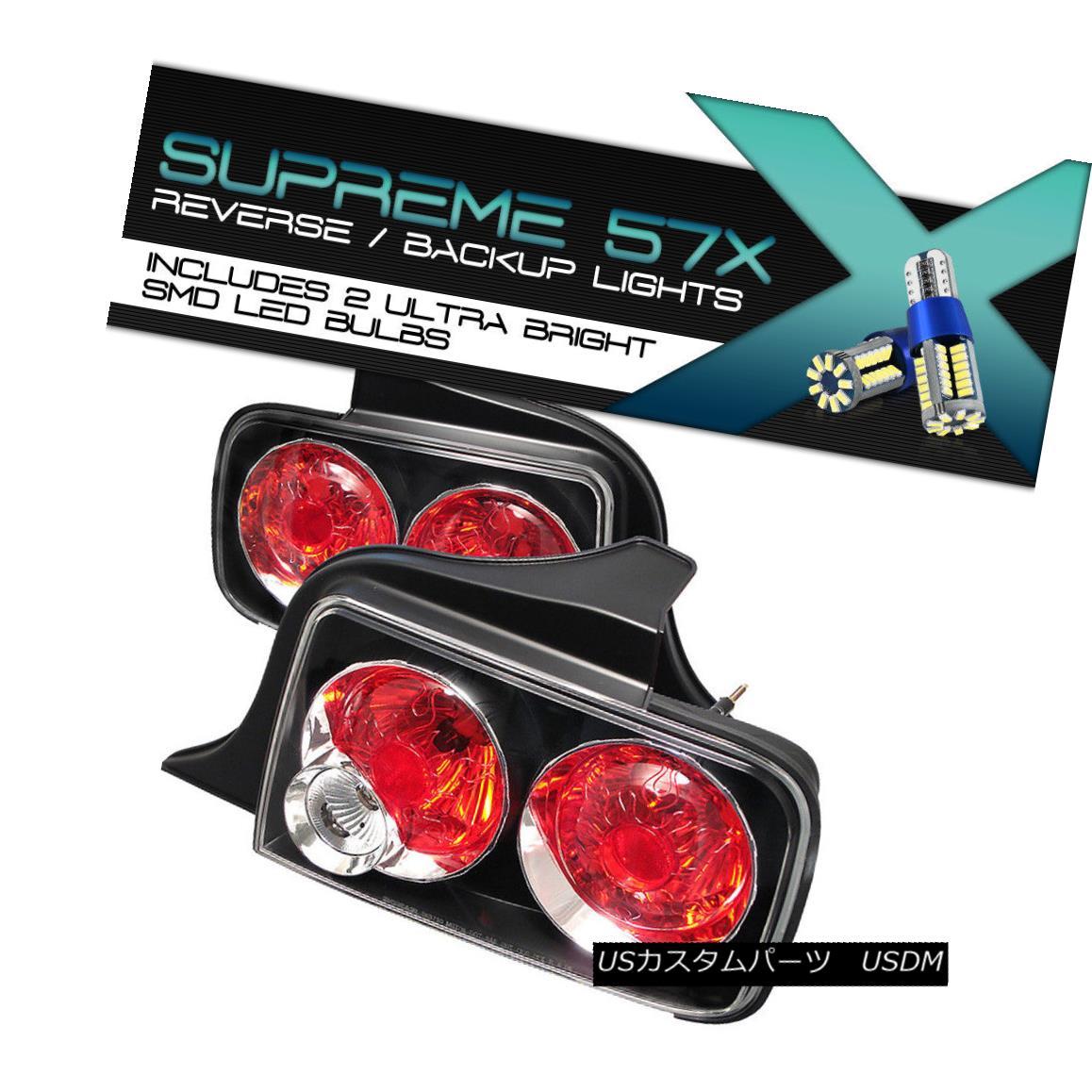 テールライト [360 Degree SMD Degree Backup] [360 05-2009 Ford Mustang GT V8 V8 Euro Black Tail Lights Brake [360度SMDバックアップ] 05-2009フォードマスタングGT V8ユーロブラックテールライトブレーキ, フクオト:91c50126 --- officewill.xsrv.jp