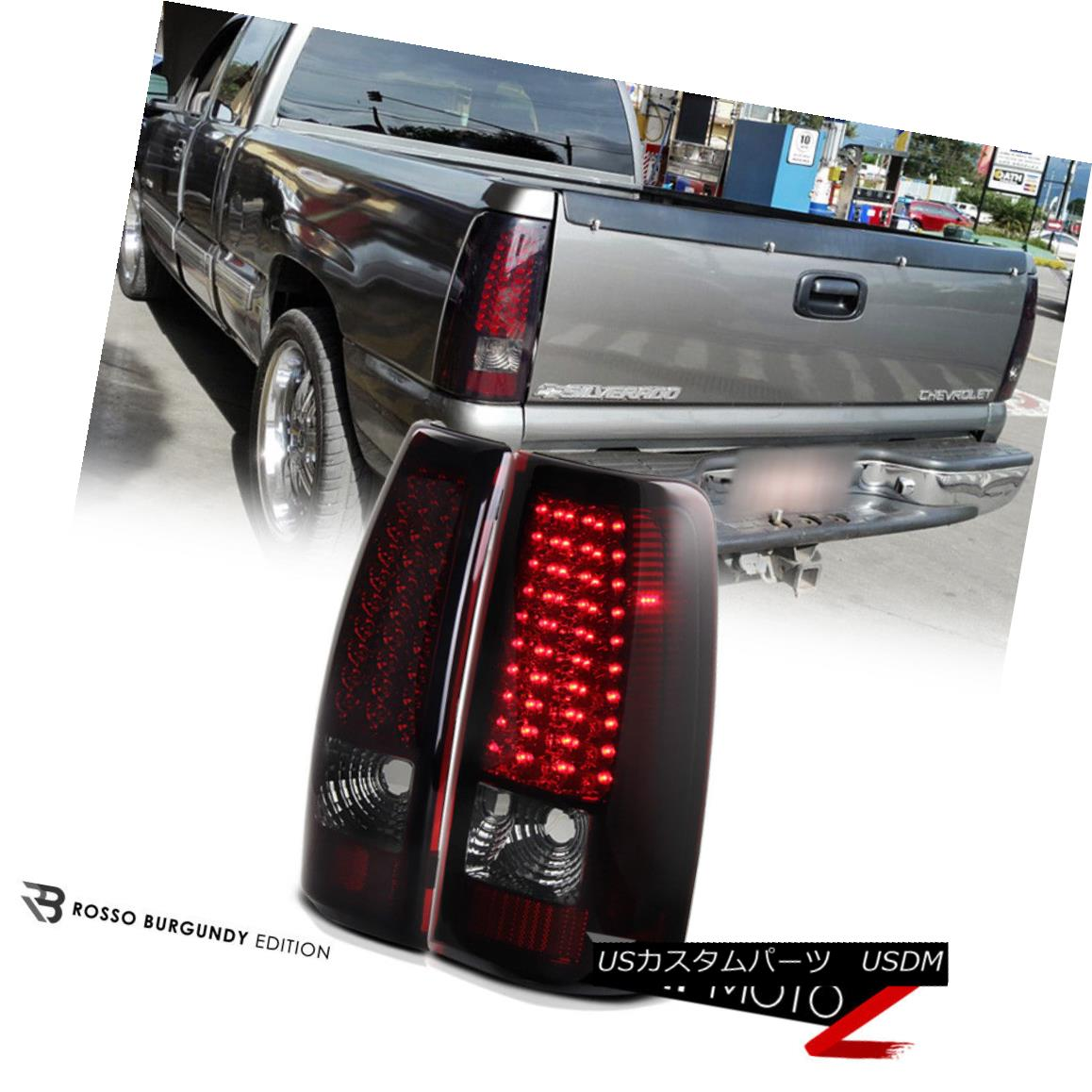 テールライト 99-02 Chevy Silverado Truck 1500/2500/3500 LED RED/SMOKE Tail Light Brake Lamps 99-02 Chevy Silveradoトラック1500/2500/3500 LED RED / SMOKEテールライトブレーキランプ
