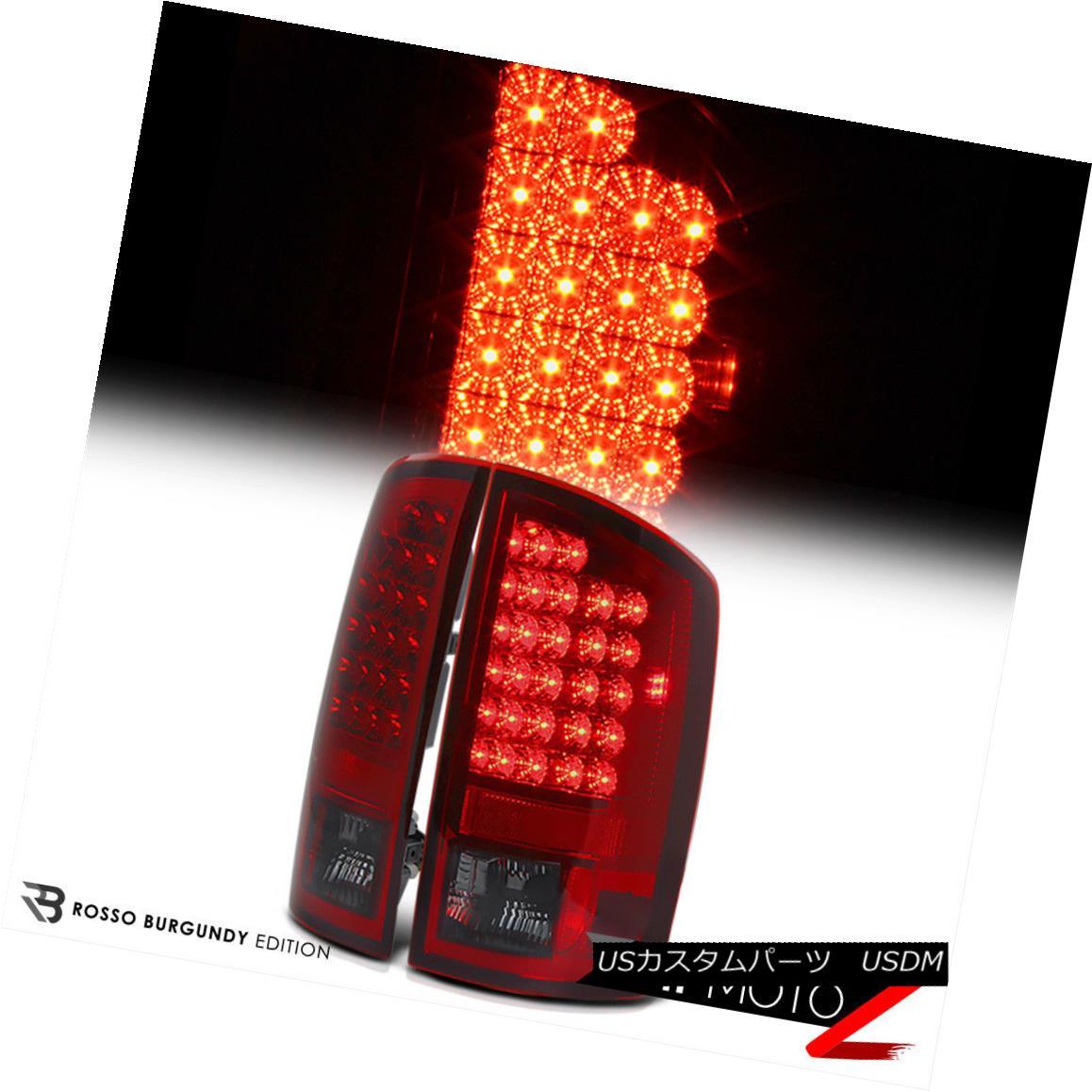テールライト [PREMIUM] 2002-2006 Dodge Ram 1500 2500 3500 Smoke Wine Red LED Tail Lights Lamp [PREMIUM] 2002-2006 Dodge Ram 1500 2500 3500スモークワインレッドLEDテールライトランプ