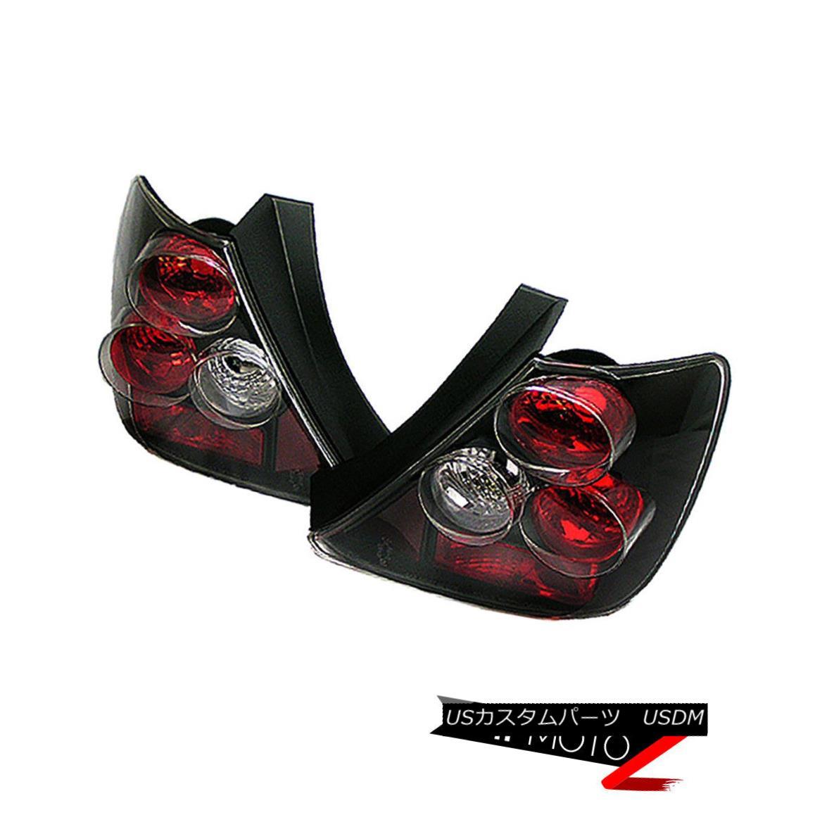 テールライト 02-03 Honda Civic 3DR EP3 Si VTEC K20 Hatchback JDM Black Tail Lights Brake Lamp 02-03ホンダシビック3DR EP3 Si VTEC K20ハッチバックJDMブラックテールライトブレーキランプ