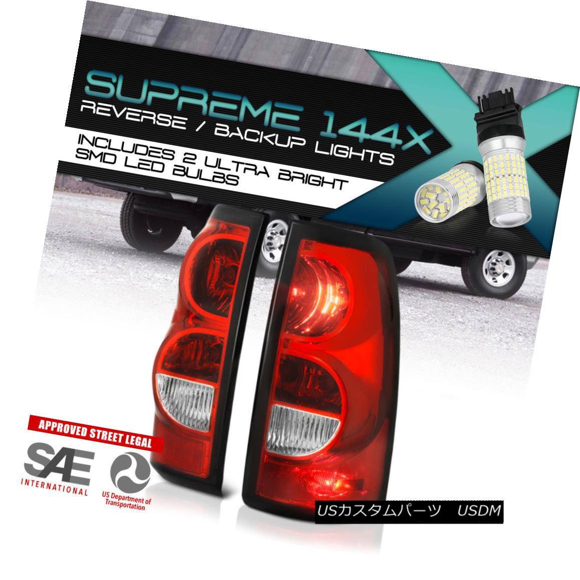 テールライト 360 DEGREE SMD REVERSE Factory Style Red Brake Tail Lights 03-06 Chevy Silverado 360度SMDリバース工場スタイルレッドブレーキテールライト03-06 Chevy Silverado