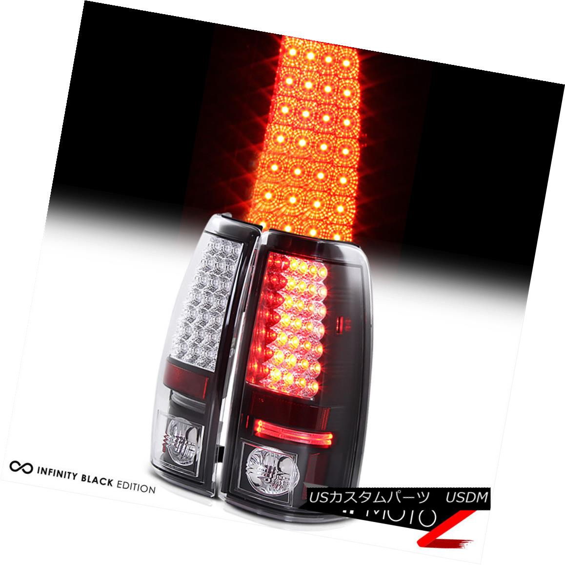 テールライト 2003-2006 Chevy Silverado 1500 2500HD 3500HD Black LED Rear Tail Light Lamp PAIR 2003-2006シボレーシルバラード1500 2500HD 3500HDブラックLEDリアテールライトランプペア