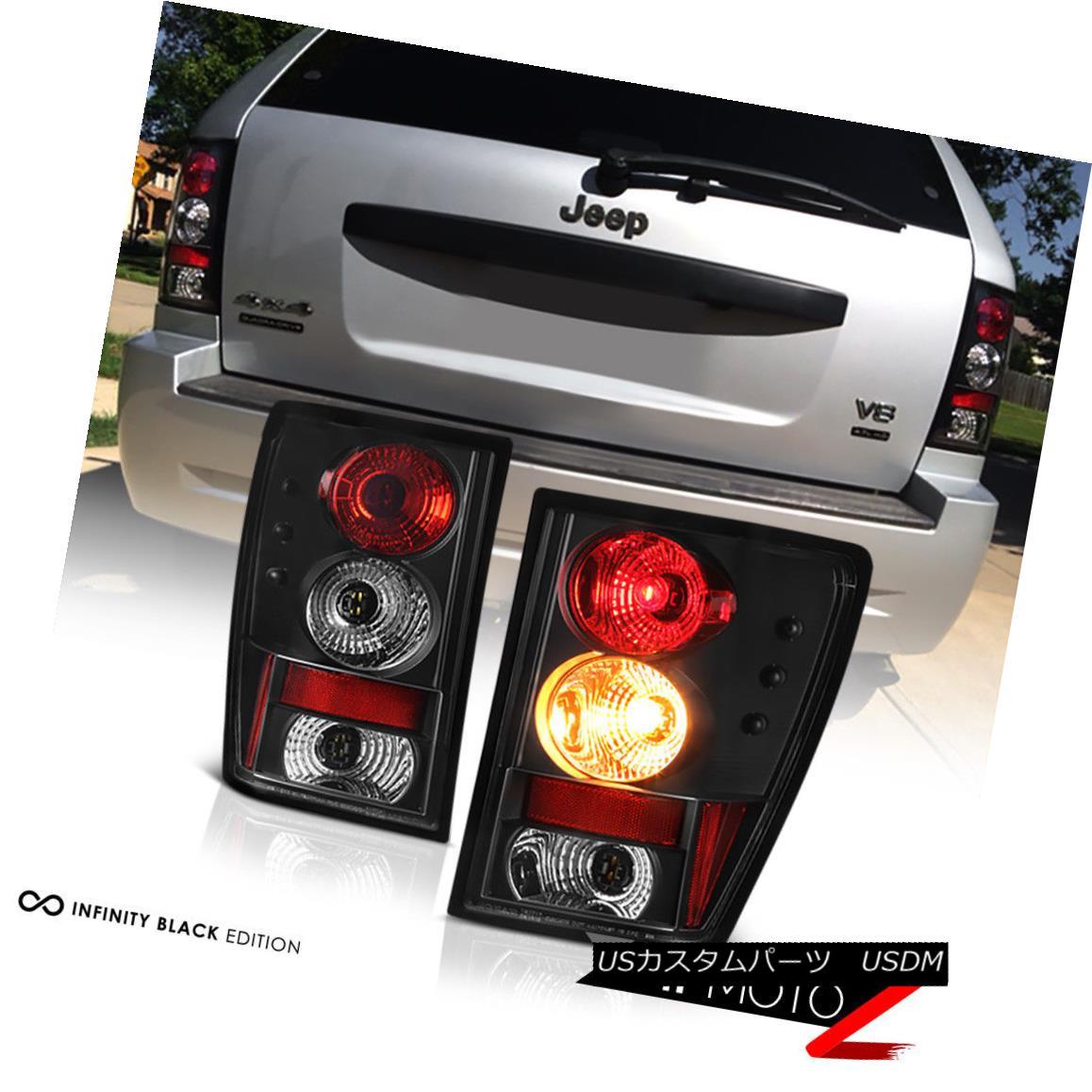 テールライト 2005-2006 Jeep Grand Cherokee SRT Sport Left+Right Black Altezza Tail Light Lamp 2005 - 2006ジープグランドチェロキーSRTスポーツ左+右ブラックアルテッツァテールライトランプ