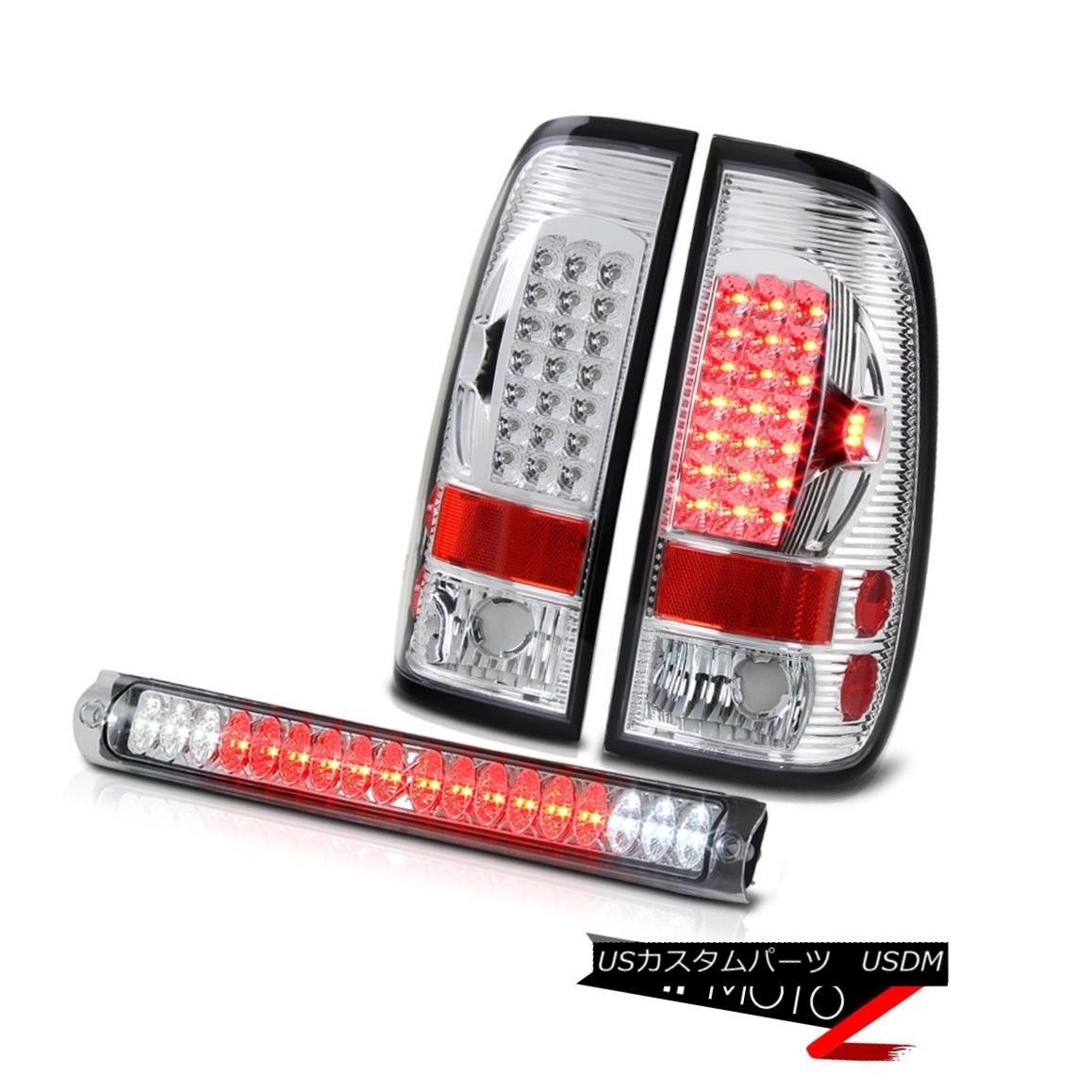 テールライト F150 XLT 1997 1998 Chrome LED Tail Lights Bulb 3rd Brake Set Truck Off Road Lamp F150 XLT 1997 1998クロームLEDテールライトバルブ第3ブレーキセットオフロードランプ