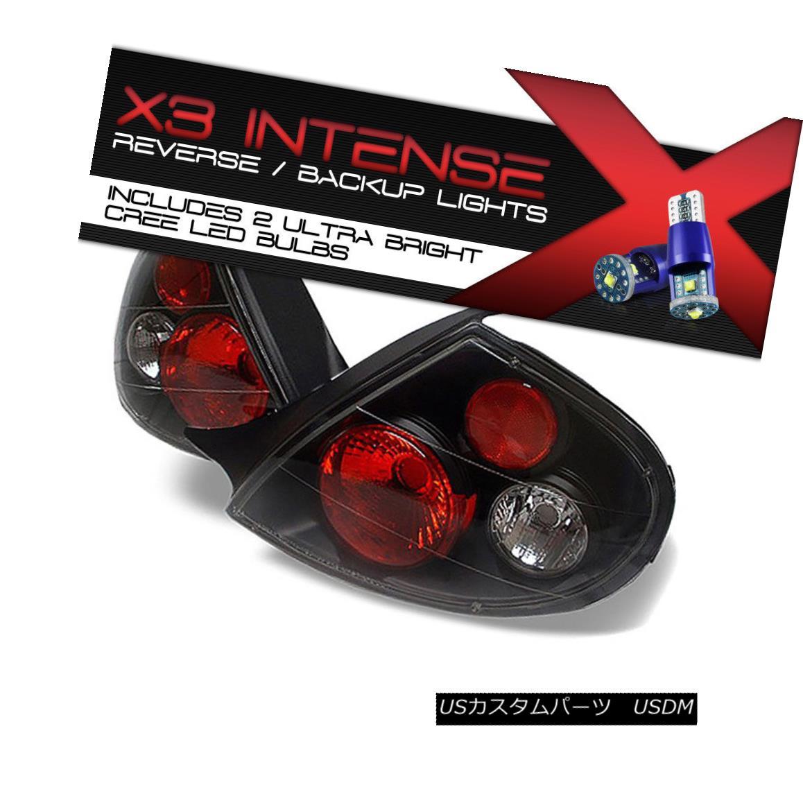テールライト !CREE LED REVERSE! 2000-2002 Dodge Neon L+R Black Altezza Tail Light Brake Set !クリーLED逆転! 2000-2002ダッジネオンL + Rブラックアルテッツァテールライトブレーキセット
