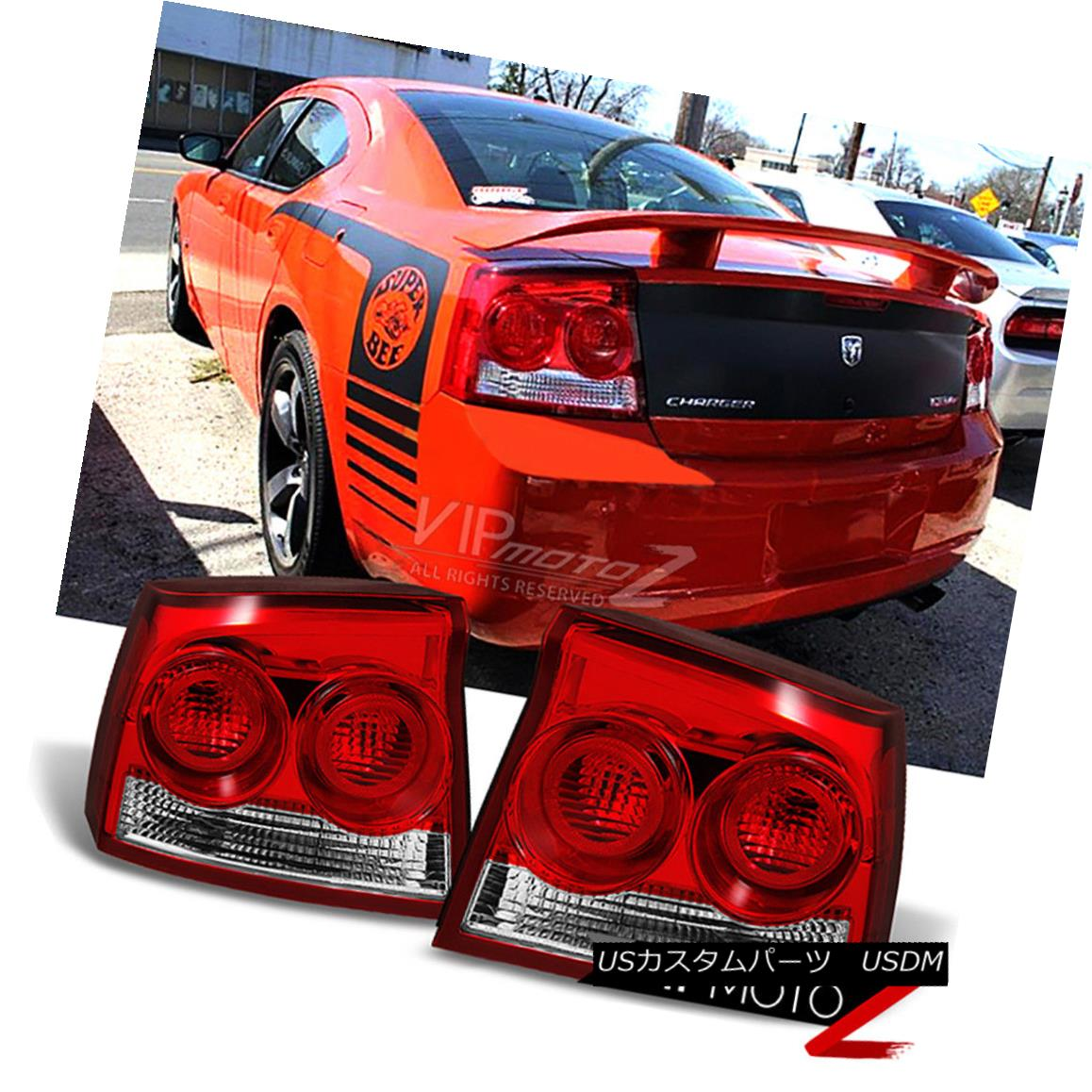テールライト 09-10 Dodge Charger SXT RT SE Rear Tail Lights OE Style Replacement Left Right 09-10 Dodge Charger SXT RT SEリアテールライトOEスタイルの置き換え左右