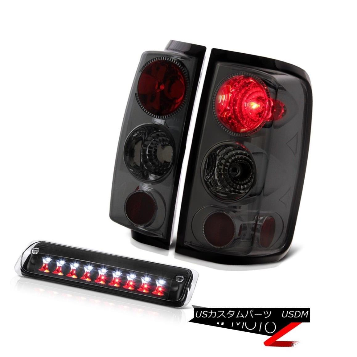 テールライト 04-08 Ford F150 STX Black 3RD Brake Lamp Graphite Smoke Parking Lights LED Euro 04-08フォードF150 STXブラック3RDブレーキランプグラファイトスモークパーキングライトLEDユーロ