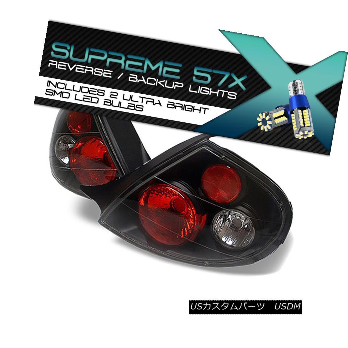 テールライト !360 DEGREE SMD BACKUP! 2000-2002 Dodge Neon L+R Black Altezza Tail Light Brake 360°SMDバックアップ! 2000-2002ダッジネオンL + Rブラックアルテッツァテールライトブレーキ