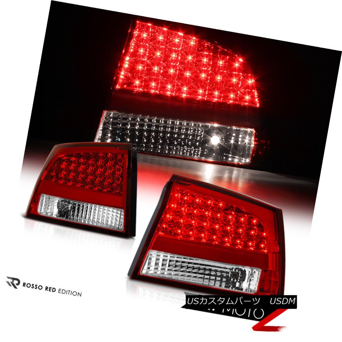 テールライト Dodge Charger 09-10 Red/Clear LED Brake Signal Tail Lamp Light LH+RH Replacement ダッジチャージャー09-10レッド/クリアLEDブレーキ信号テールランプライトLH + RH交換