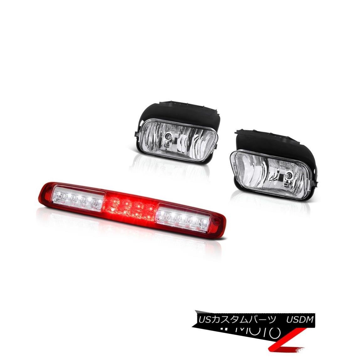 テールライト 03 04 05 06 Chevy Silverado 1500 Red 3RD Brake Lamp Sterling Chrome Foglights 03 04 05 06 Chevy Silverado 1500レッド3RDブレーキランプスターリングクロムフォグライト