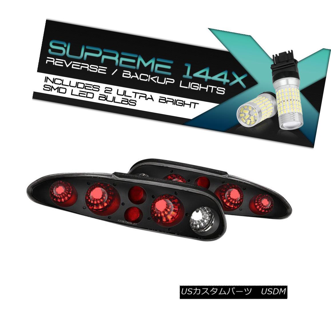 テールライト !360°SMD LED BackUp Bulb! 93-02 Chevy Camaro Black Altezza Style Tail Light Lamp !360°SMD LEDバックアップバルブ! 93-02シボレーカマロブラックアルテッツァスタイルテールライトランプ